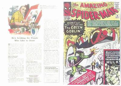 Facsimile reprint covers only to THE AMAZING SPIDER-MAN #14 - 1st Green Goblin
