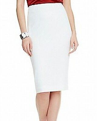 Kasper NEW White Ivory Women's Size 4P Petite Straight Pencil Skirt $69 #385