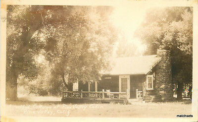 1920s Pine Valley California Cottage Cabin RPPC Real Photo San Diego 7799