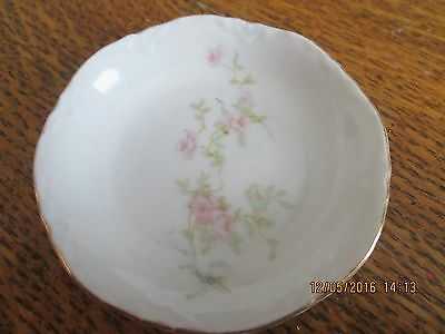 Antique Butter Pat D&eg Austria Pink Flowers