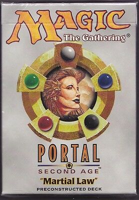 """MTG 1 x PORTAL 2  """"MARTIAL LAW""""  Preconstructed Deck Factory Sealed (40 cards)"""