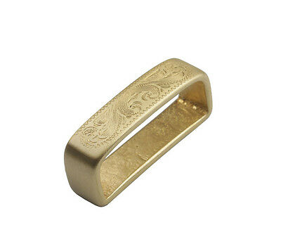 1PCS Solid Brass Smooth Pattern Belt Spacer 40mm