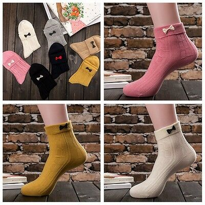 5 Pairs Women cotton Thick Warm Soft Solid Casual Sports Socks Winter hot