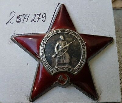 NoRes  Soviet Russian  WWII Patriotic war Order of Red Star No 2 571 279, 1945y