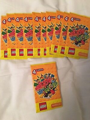 Brand New Sealed Packs Lego Create The World Trading Cards