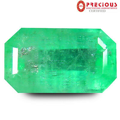3.70 ct PGTL Certified Impressive Octagon Cut (12 x 7 mm) Colombia Emerald Stone