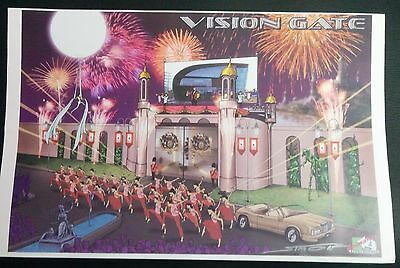"""Disney World VISION GATE  Finalized 17"""" Concept Art SIGNED by Mark Simon #MS3"""