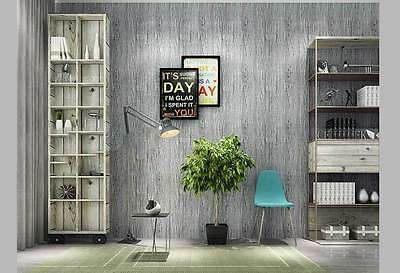 mediterranean Rustic Wood Panel look GREY wallpaper industrial shop wallpaper