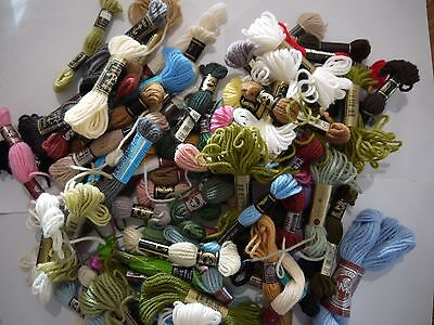 Bulk 73 skeins Tapestry Long Stitch wool embroidery thread DMC Anchor