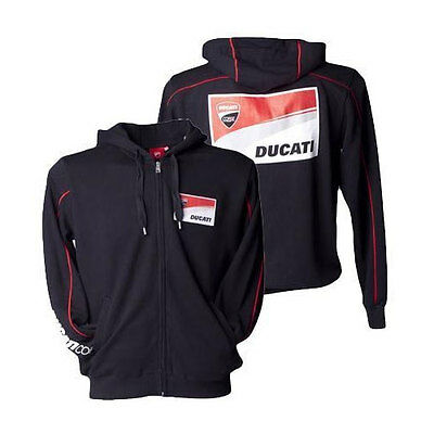 Ducati Corse Mens Hoody Jumper  Sweater Black Red  Motogp Sizes S & Xl Only