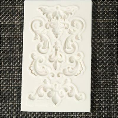 3D Baroque Flower Silicone Fondant Mold Chocolate Cake Decorating Baking Mould B