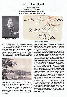 GB Free Front 1830 signed C M Burrell, MP New Shoreham, with research