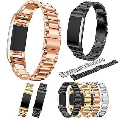 Stainless Steel Bracelet Smart Watch Band Strap For Fitbit Charge 2 Watchbands
