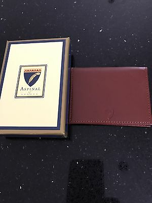Aspinal Of London Credit Card And ID Leather Smooth Cognac Case