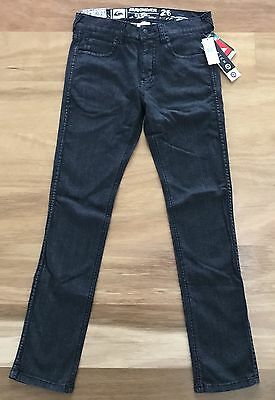 NWT QUIKSILVER Boys Sz 12 (26) Black Slim JEANS. Brand NEW with Tags RRP $79.99!