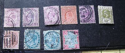 Selection Of India & Ceylon Stamps. Victoria, Edward Vii & George V.
