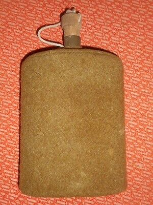 G.BRITAIN ARMY:Original WWII British P37 Original Army Water Bottle & Wool Cover