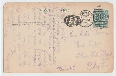 Gb 1904 Ppc Paignton To Clifton, Numeral Cancel