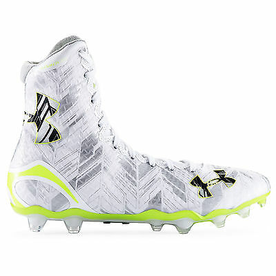 New Under Armour Highlight MC LAX Mens Lacrosse Cleats Football : White Silver