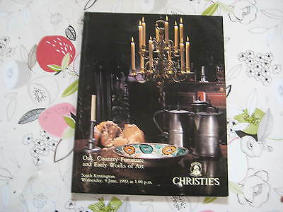 Christies Catalogue Oak, Country Furniture & Works Of Art Lon Jun93