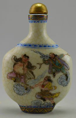 18 Century Antique Vintage Old Porcelain Hand Painted Pilgrimage to the West Sto