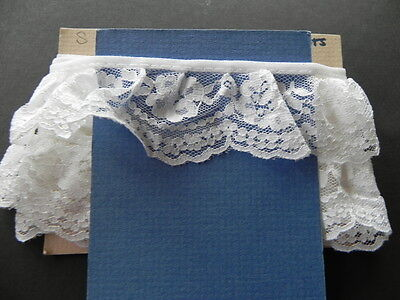 Card of New Gathered Lace - White 2