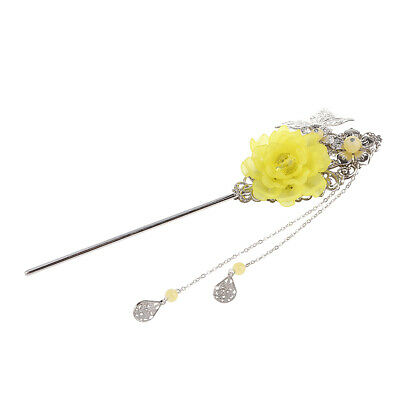 Retro Tassels Pendant Alloy Metal Butterfly Flower Hairpin  Hair Stick Clip