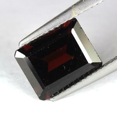 *1.42 cts. 6.8 x 6.6 mm. NATURAL SQUARE RED ALMANDINE AFRICA