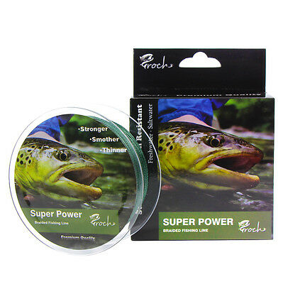 Croch Super Power PE Braided Fishing Line Abrasion Resistant Superline 300M 40LB
