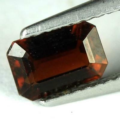 *0.80 cts. 7 x 4.7 mm. NATURAL OCTAGON RED ALMANDINE AFRICA