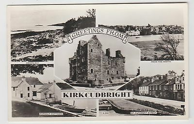 Kirkcudbright Castle, St.Cuthbert Cars etc:-1950's (Est) RP MView PPC, GVG Used