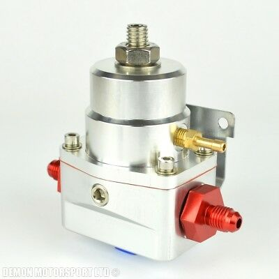 AN4 (JIC -4) Fuel Pressure Regulator Silver With 4AN Fittings 7 Bar 1:1