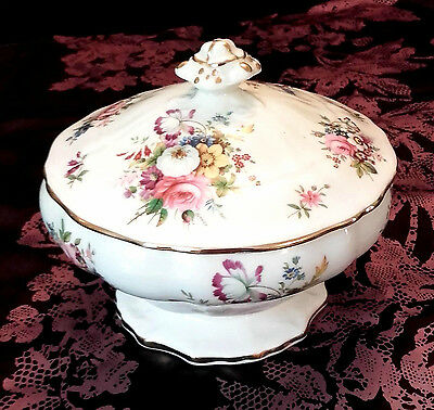 VINTAGE HAMMERSLEY Lidded Bowl LADY PATRICIA Pattern Design UK Post FREE