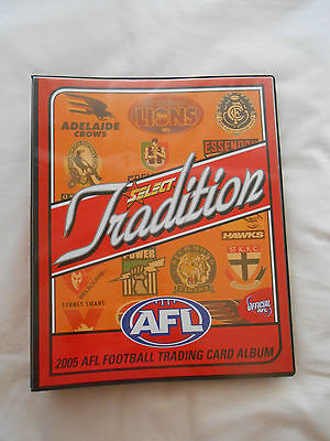 Afl 2005 Select Tradition Full Common Set....and Collector Card Album.