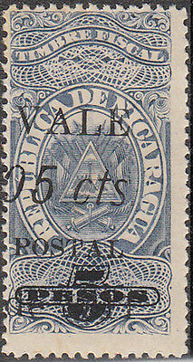 P29: Nicaragua - 1911 SG315 Sc275 5c/5p no stop after 'cts', mm/mh