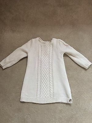 Girls BabyGAP cream knitted dress 12-18 months