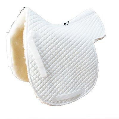 Vast Merino Fleece English Horse Saddle All Purpose Sheepskin Cover(white)1663