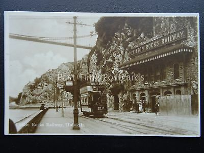Bristol CLIFTON ROCKS RAILWAY Hotwells c1910 RP Postcard by Milton