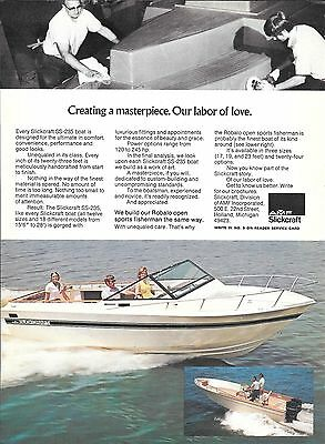 1974 AMF Slickcraft SS- 235 Boat Color Ad- Nice Photos