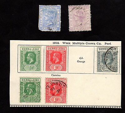 Stamps ~ SIERRA LEONE ~ Early