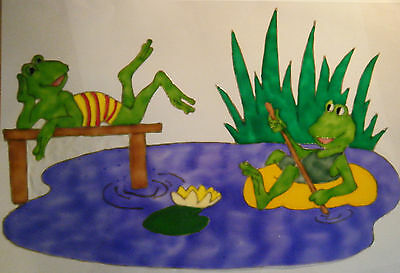 Sale Frogs Animal Window Paint Picture Decoration Cling