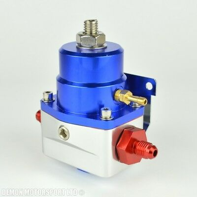 AN4 (JIC -4) Fuel Pressure Regulator Blue With 4AN Fittings 7 Bar 1:1