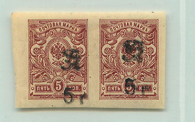 Armenia, 1920, SC 136a, mint, black Type F or G, horizontal  pair. e9425