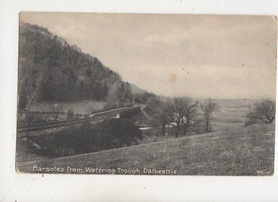 Barsoles From Watering Trough Dalbeattie Kirkcudbrightshire 1921 Postcard