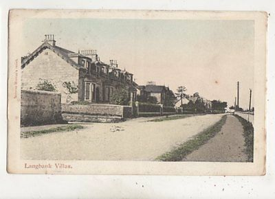 Langbank Villas Renfrewshire Scotland 1906 Postcard Norman Hunter