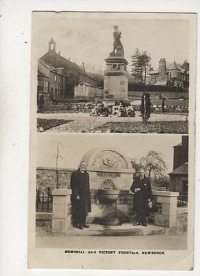 Memorial & Victory Fountain Newburgh Fife Scotland 1924 RP Postcard Robertson