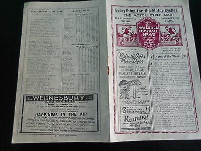 WALSALL Reserves v WEST BROMWICH ALBION (A)  Birmingham Combination  1938/1939