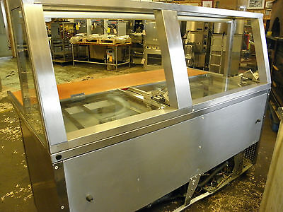 True Tssu-72 Custom Made Glass Top Retail Display Sandwich Subs Deli Prep Table