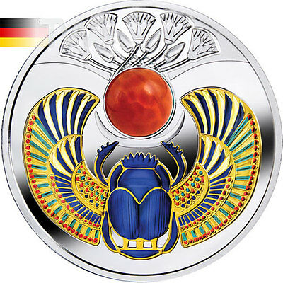 Agate Scarab Proof Silver Coin 1$ Niue 2017
