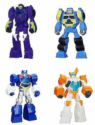 Playskool Transformers Rescue Bots Salvage, Blades Flight Bot, Blurr, Chase
